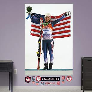 Mikaela Shiffrin Flag Mural