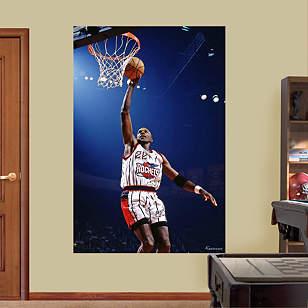 Clyde Drexler Rockets Mural