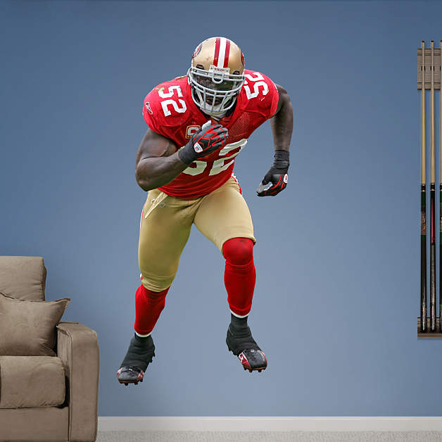 life size patrick willis wall decal shop fathead for. Black Bedroom Furniture Sets. Home Design Ideas