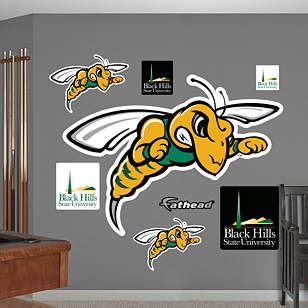 Black Hills State Yellow Jackets Logo