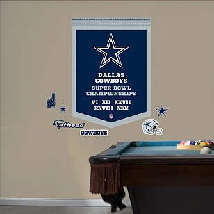 Dallas Cowboys Super Bowl Champions Banner