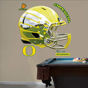 Oregon Ducks Liquid Lightning Yellow Helmet