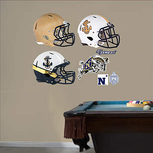 Navy Midshipmen Helmet Collection