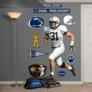 Life size paul posluszny penn state wall decal shop for Penn state decorations home