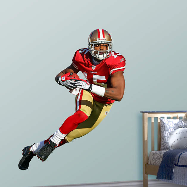 Life size michael crabtree wall decal shop fathead for for 49ers wall mural
