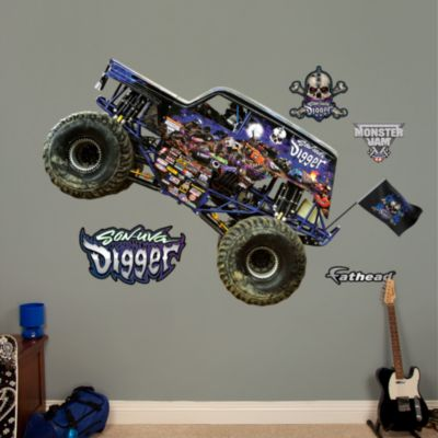 Grave Digger Fathead Wall Decal