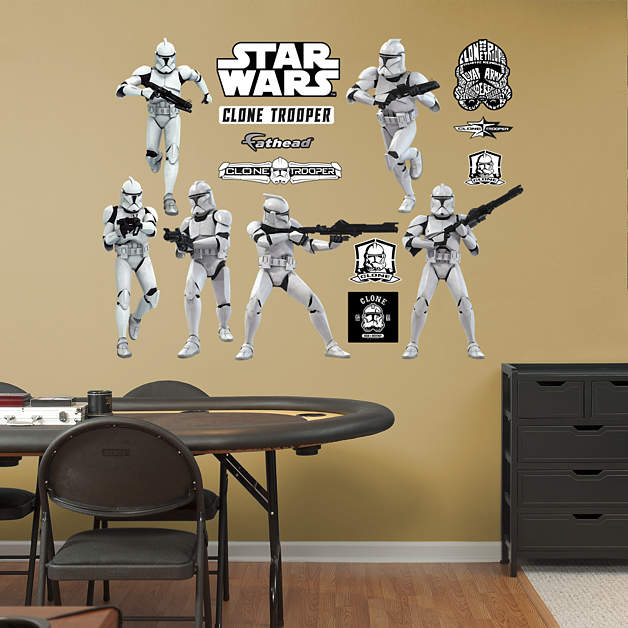 clone troopers collection wall decal shop fathead for. Black Bedroom Furniture Sets. Home Design Ideas