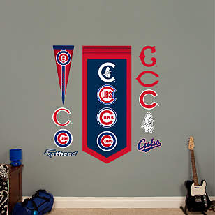 Chicago Cubs Logo Evolution Banner