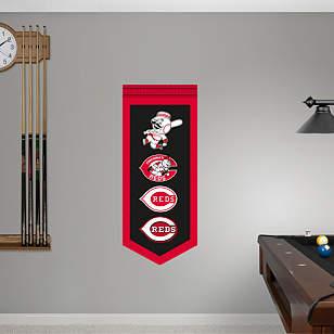 Cincinnati Reds Logo Evolution Banner