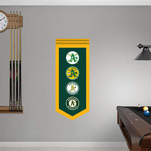 Oakland Athletics Logo Evolution Banner