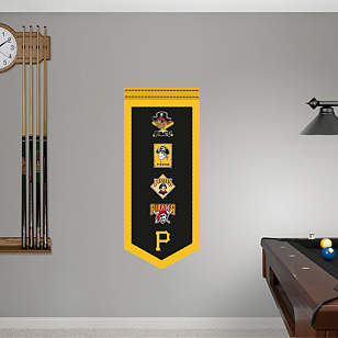 Pittsburgh Pirates Logo Evolution Banner