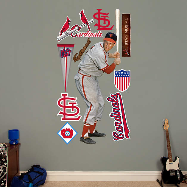 life size stan musial wall decal shop fathead for st. Black Bedroom Furniture Sets. Home Design Ideas
