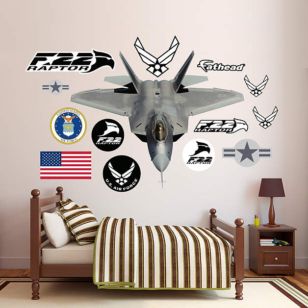 Usaf Wall Decor : F raptor wall decal fathead? for air force decor