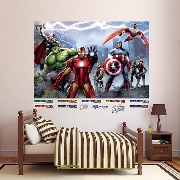 1 877 328 8877 for Avengers mural poster