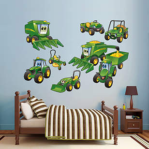John Deere Johnny Tractor Farming Collection Wall Decal