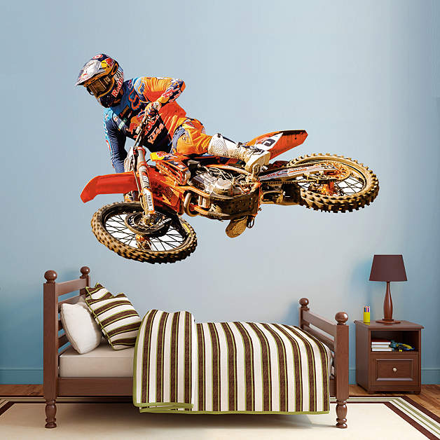 Life size ryan dungey wall decal shop fathead for for Dirt bike bedroom ideas