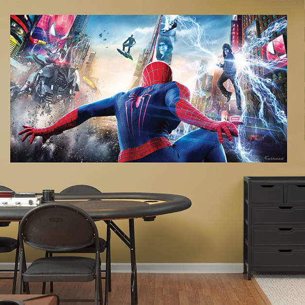 Shop amazing spider man wall decals graphics fathead - Poster mural spiderman ...