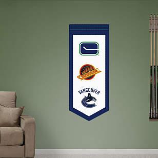Vancouver Canucks Logo Evolution Banner