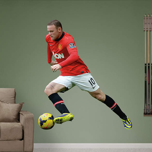Wayne Rooney Lifestyle Wayne Rooney Fathead Wall Decal