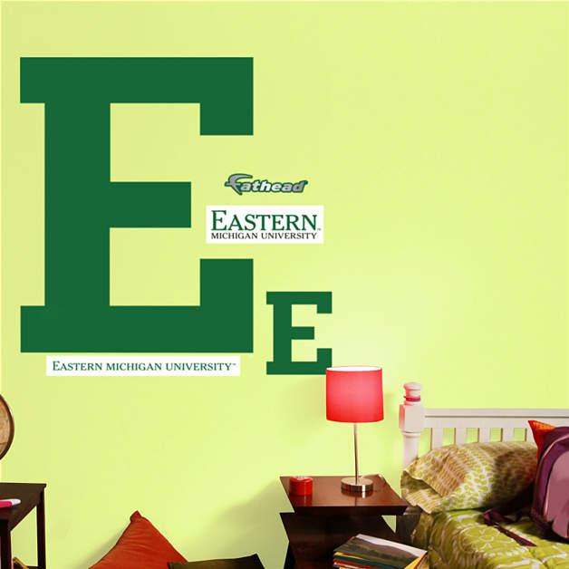 Eastern Michigan Eagles Block E Logo Wall Decal Shop