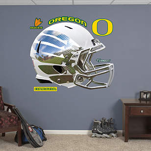 Oregon Ducks White Vapor Helmet