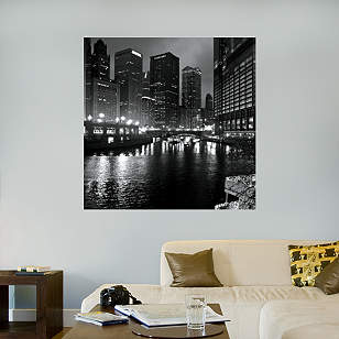 Chicago River at Night by Keith Dotson