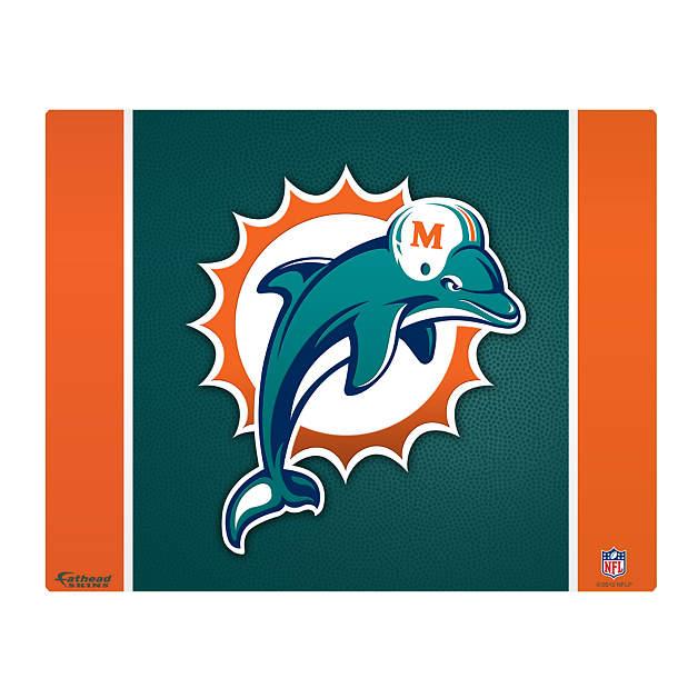"""Miami Dolphins Logo 17"""" Laptop Skin Decal"""