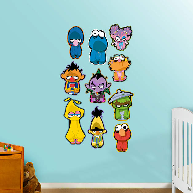 sesame street zombie collection wall decal shop fathead for sesame street decor. Black Bedroom Furniture Sets. Home Design Ideas