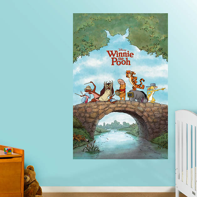winnie the pooh movie poster mural wall decal shop. Black Bedroom Furniture Sets. Home Design Ideas