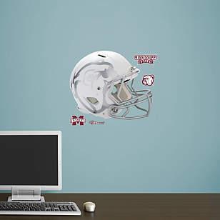 Mississippi State Bulldogs Helmet  - White Teammate