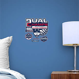 UConn Huskies Dual National Champions Logo Teammate