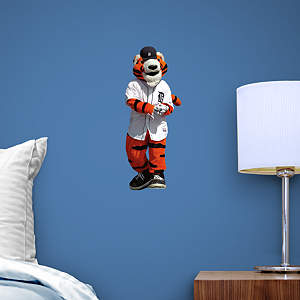 Detroit Tigers Mascot Paws Teammate Wall Decal