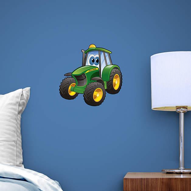 Small Tractor Cartoon : Small john deere cartoon tractor teammate decal shop