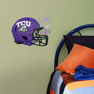 TCU Horned Frogs Chrome Helmet Teammate