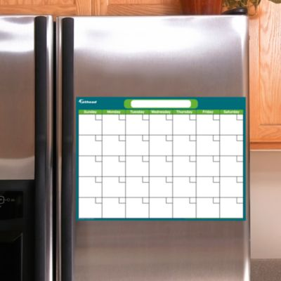Turquoise & Lime Dry Erase Small Blank Month Calendar