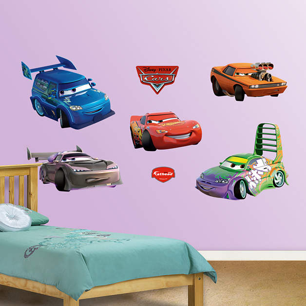 Disney cars drift wall decal shop fathead for the world for Disney cars large wall mural