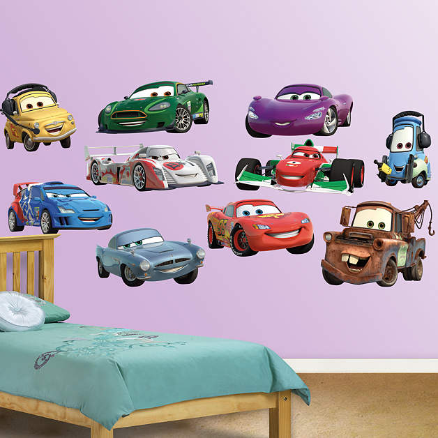Disney pixar cars 2 collection fathead wall decal for Disney cars large wall mural