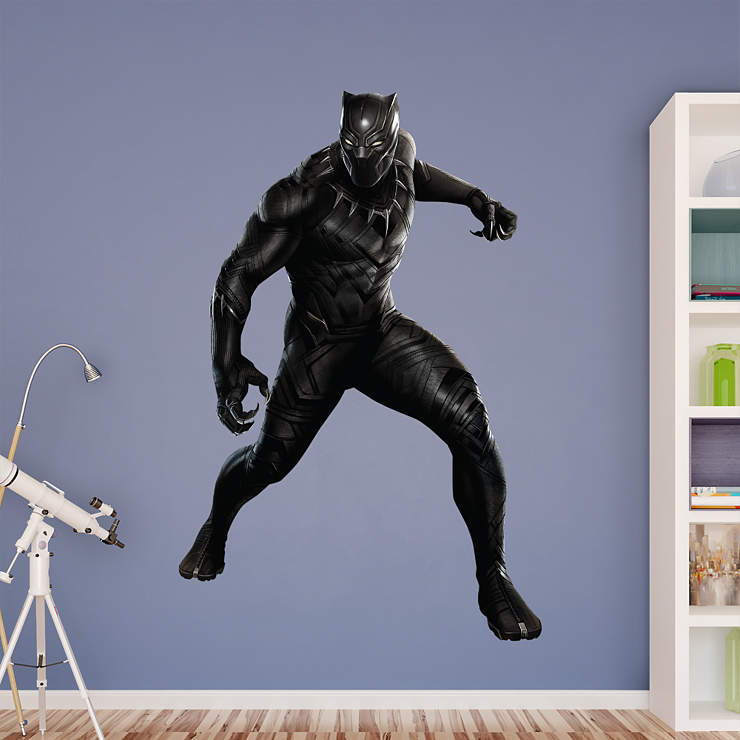 Black panther captain america civil war wall decal for Black panther mural