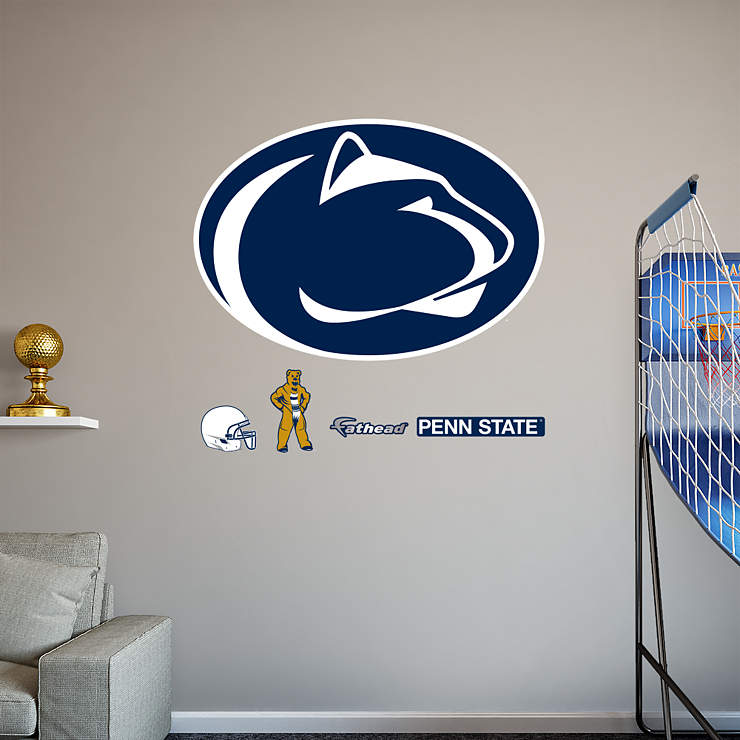 Penn state nittany lions logo wall decal shop fathead for Beaver stadium wall mural