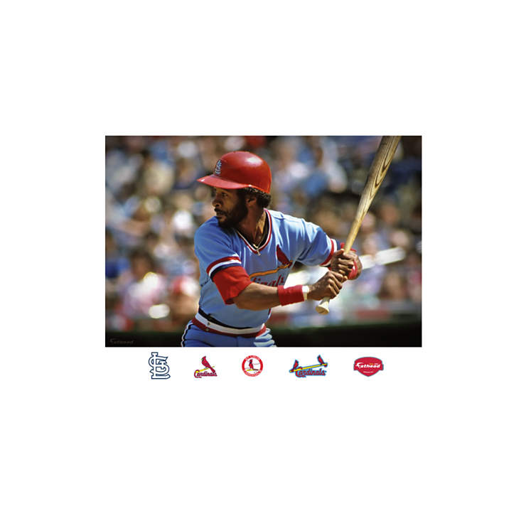 ozzie smith mural wall decal shop fathead for st louis. Black Bedroom Furniture Sets. Home Design Ideas