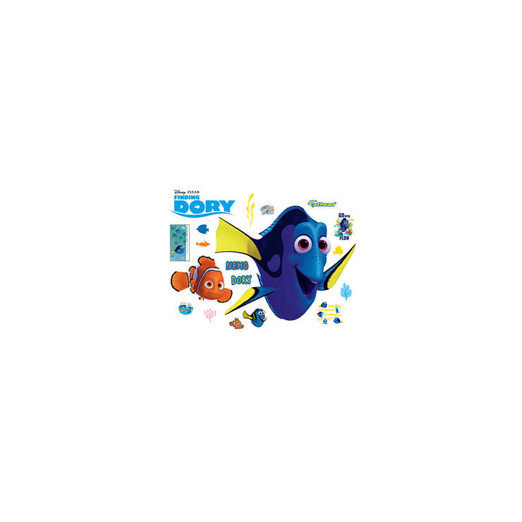 Nemo and dory finding dory wall decal shop fathead for Finding dory wall decals