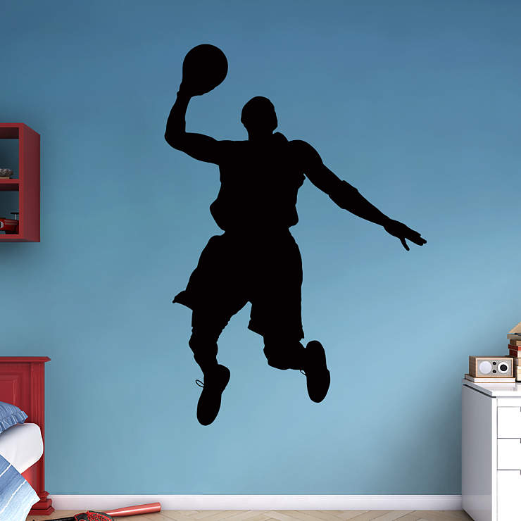 Life Size Basketball Player Silhouette Wall Decal Shop