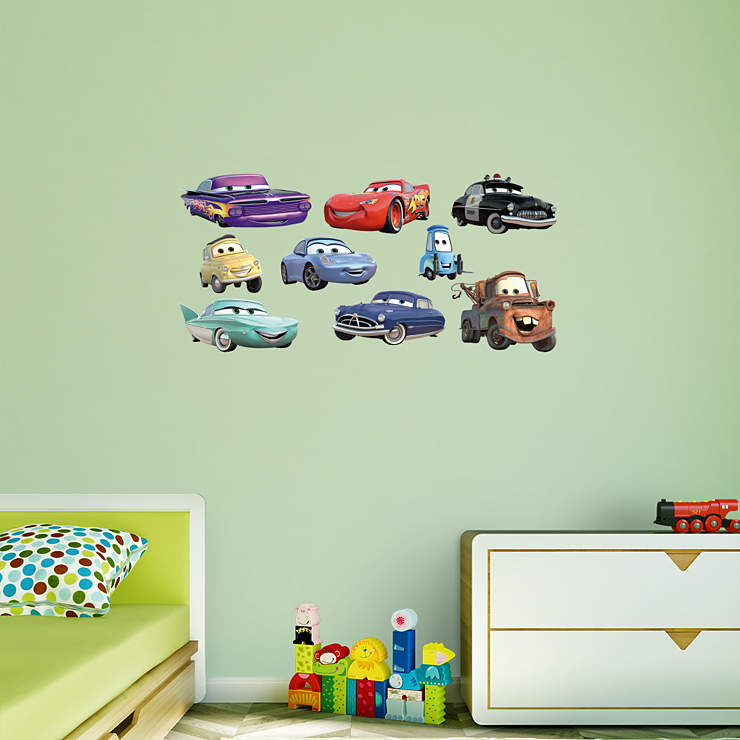 Disney pixar cars collection wall decal shop fathead for Disney pixar cars wall mural