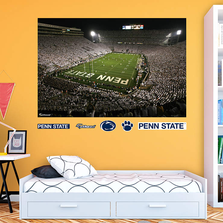 Penn state beaver stadium white out mural for Beaver stadium wall mural