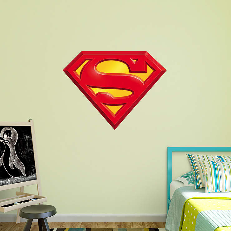 Superman logo wall decal shop fatheadr for superman decor for Superman wall decal