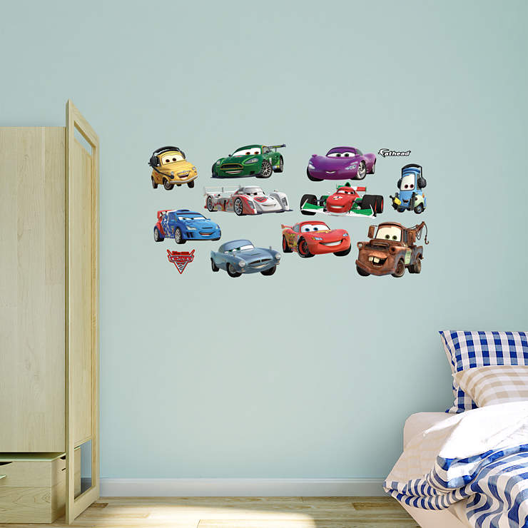 Disney pixar cars 2 collection wall decal shop fathead for the world of cars decor - Disney pixar cars wall mural ...