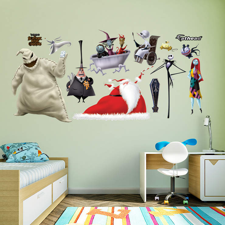 nightmare before christmas collection wall decal shop. Black Bedroom Furniture Sets. Home Design Ideas