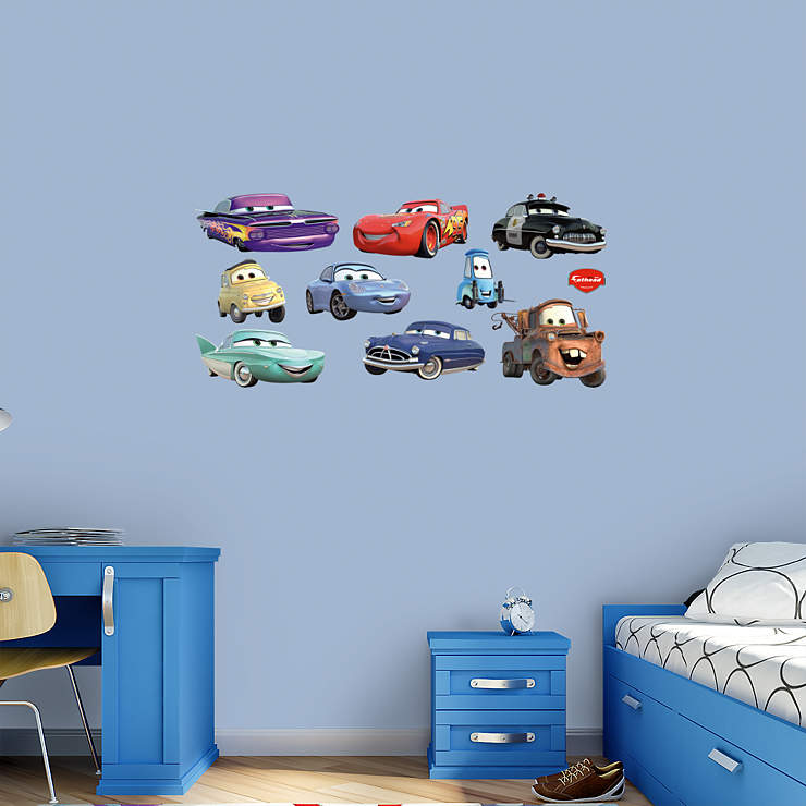 Disney pixar cars collection wall decal shop fathead for the world of cars decor - Disney pixar cars wall mural ...