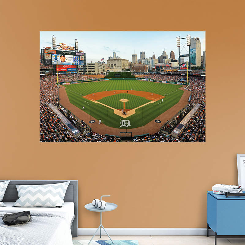 Shop tigers wall decals graphics fathead mlb for Comerica park wall mural