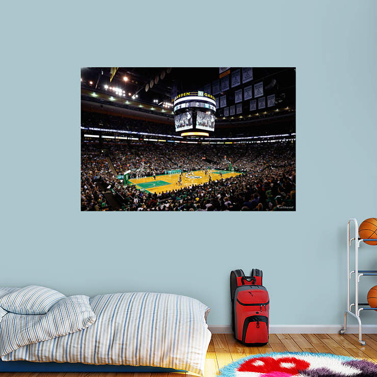 Boston celtics arena mural wall decal shop fathead for for Boston wall mural